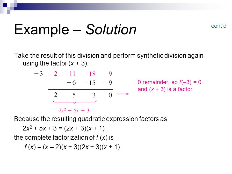 Polynomial And Synthetic Division Ppt Video Online Download
