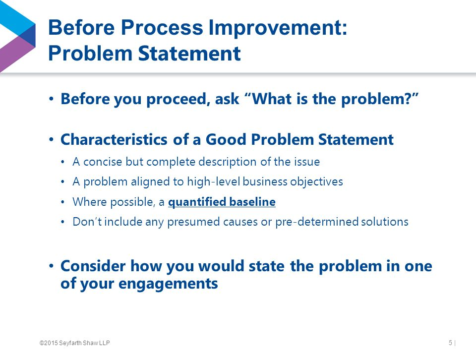 what are the characteristics of a good problem statement