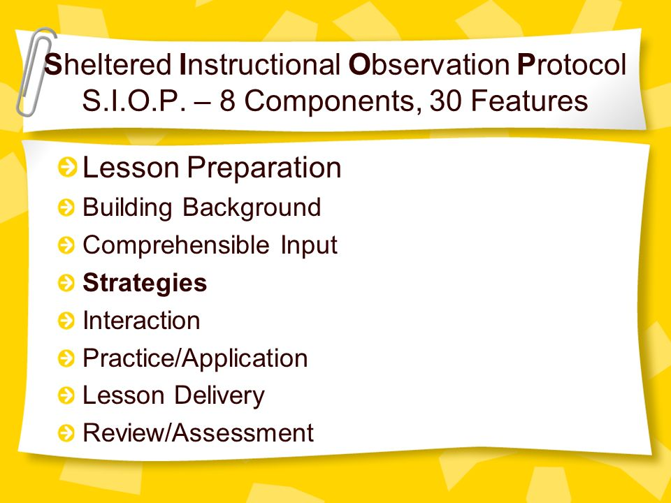 Strategies Siop Component 4 Ppt Video Online Download