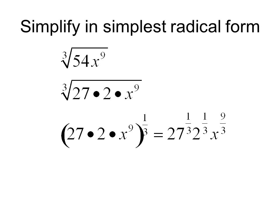 simplest form exponents  Rational Exponents Fraction Exponents. - ppt video online ...