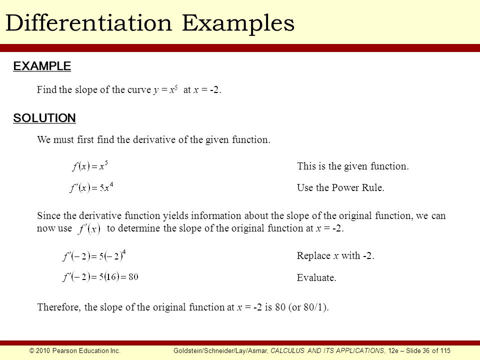 Chapter 1 The Derivative - ppt download