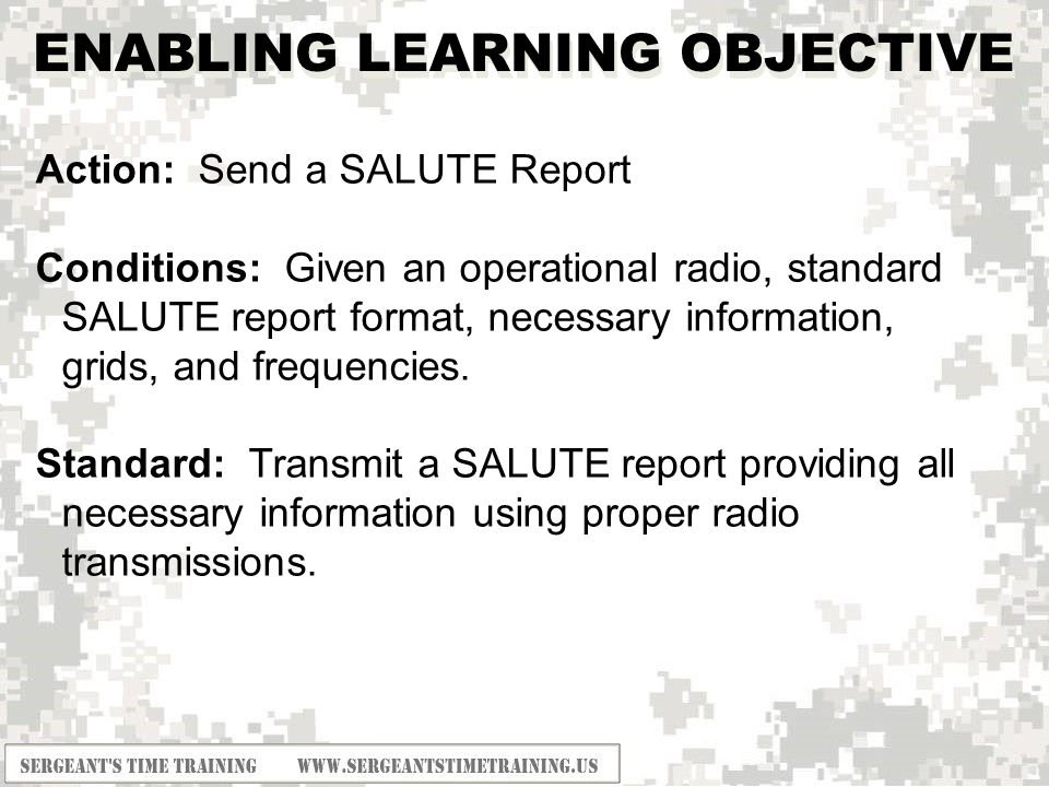 Salute Report Powerpoint Solanayodhyaco
