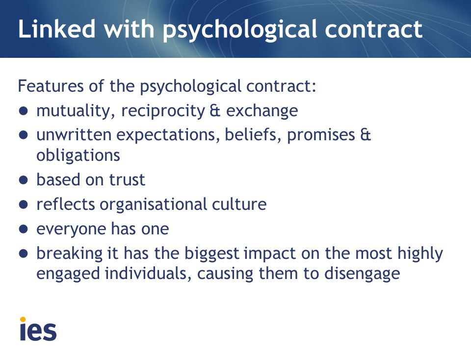 Linked with psychological contract