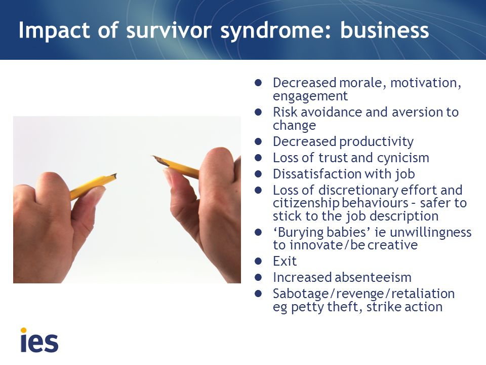 Impact of survivor syndrome: business