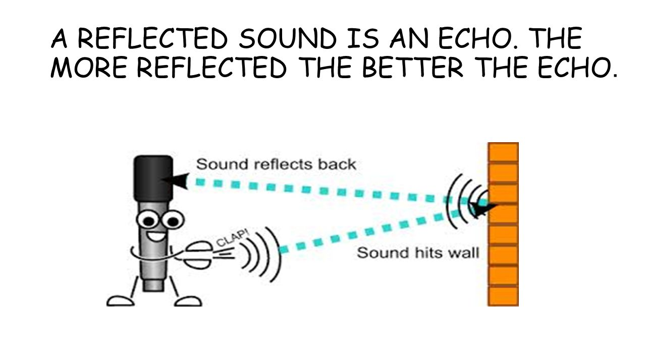 A REFLECTED SOUND IS AN ECHO. THE MORE REFLECTED THE BETTER THE ECHO.