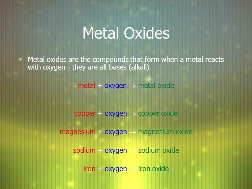 Metal Oxides + Acid D  Crowley, ppt download