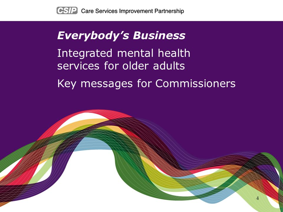Everybody's Business Integrated mental health. services for older adults.
