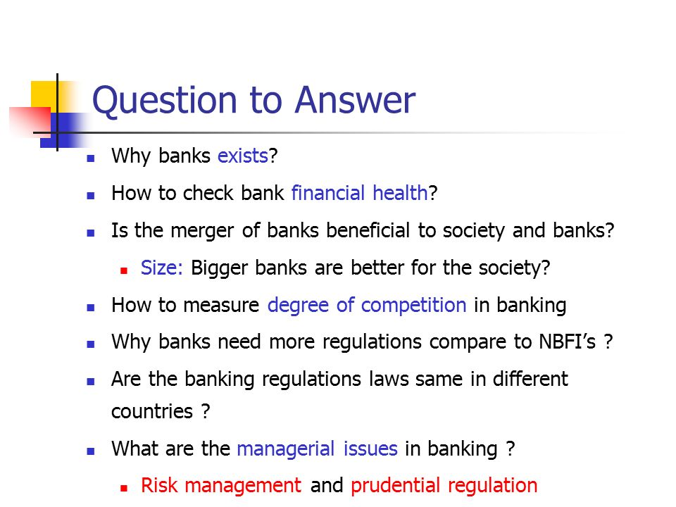 why do banks exist economics