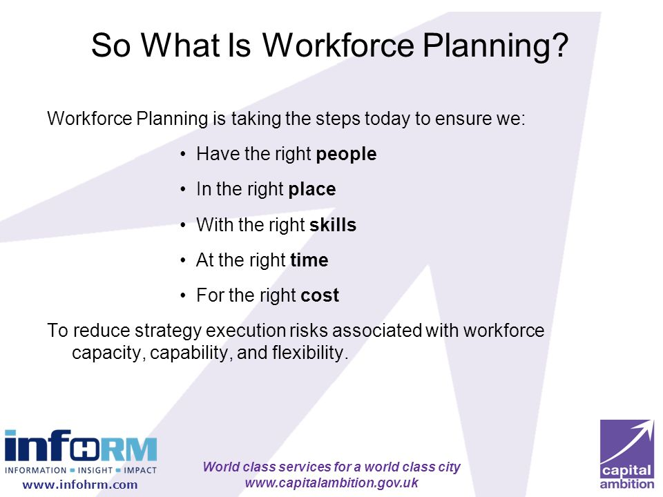 So What Is Workforce Planning