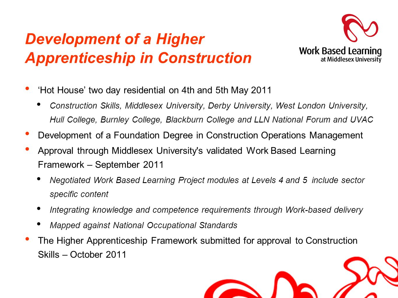 Development of a Higher Apprenticeship in Construction