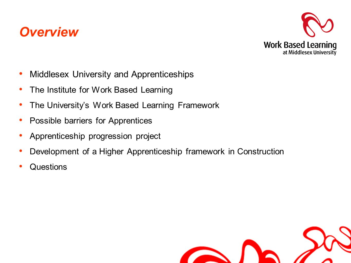 Overview Middlesex University and Apprenticeships