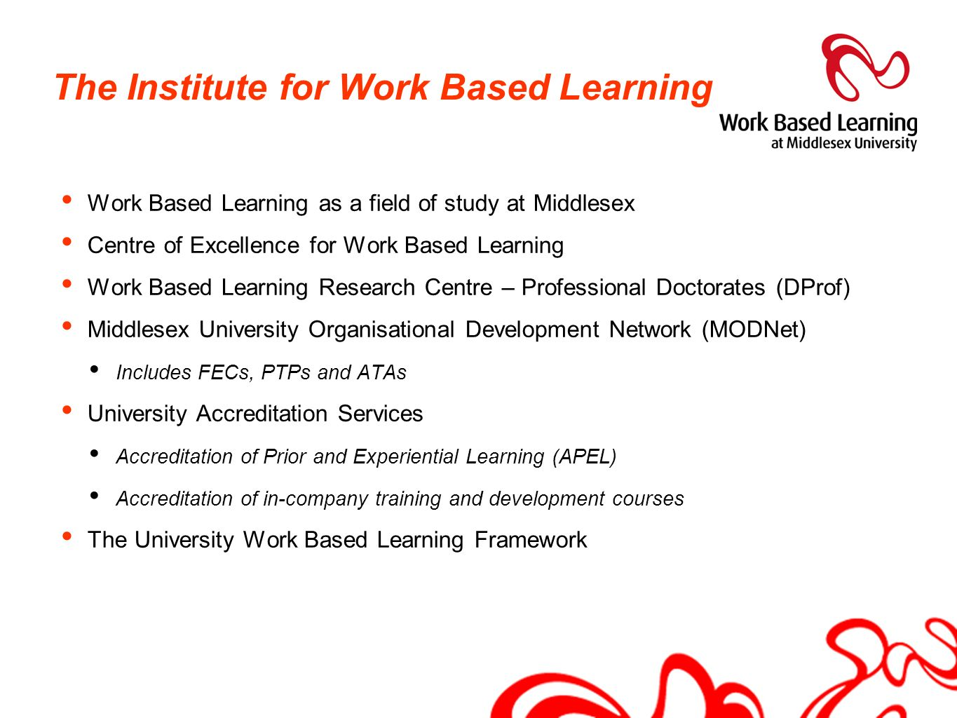 The Institute for Work Based Learning