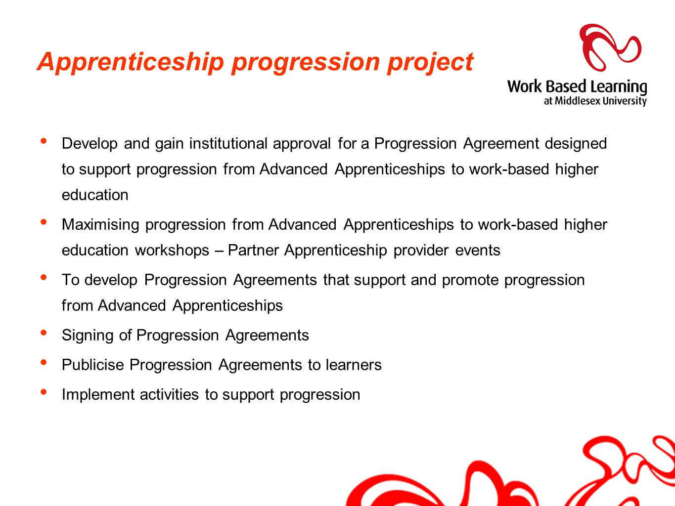 Apprenticeship progression project