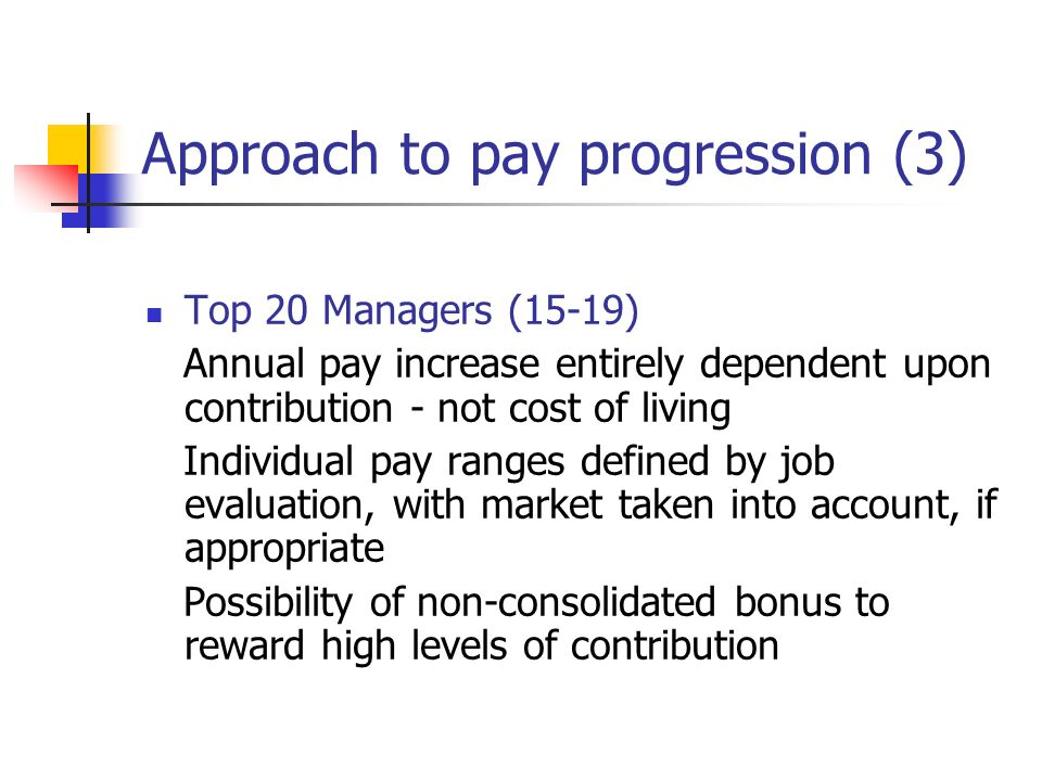 Approach to pay progression (3)