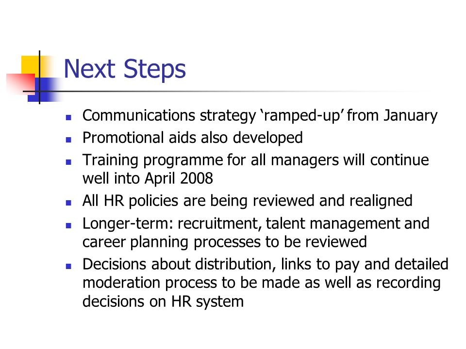 Next Steps Communications strategy 'ramped-up' from January