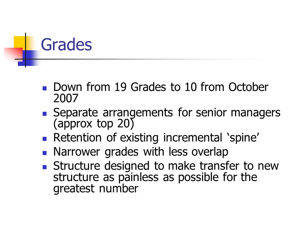 Grades Down from 19 Grades to 10 from October 2007