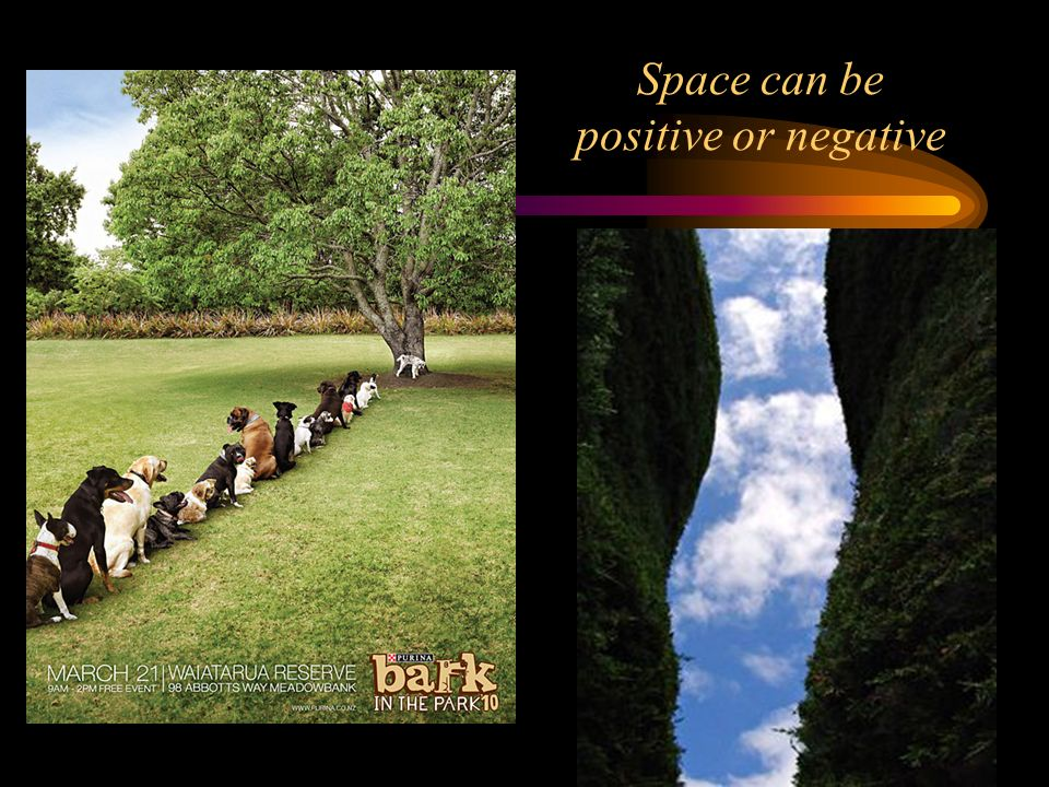 Space can be positive or negative