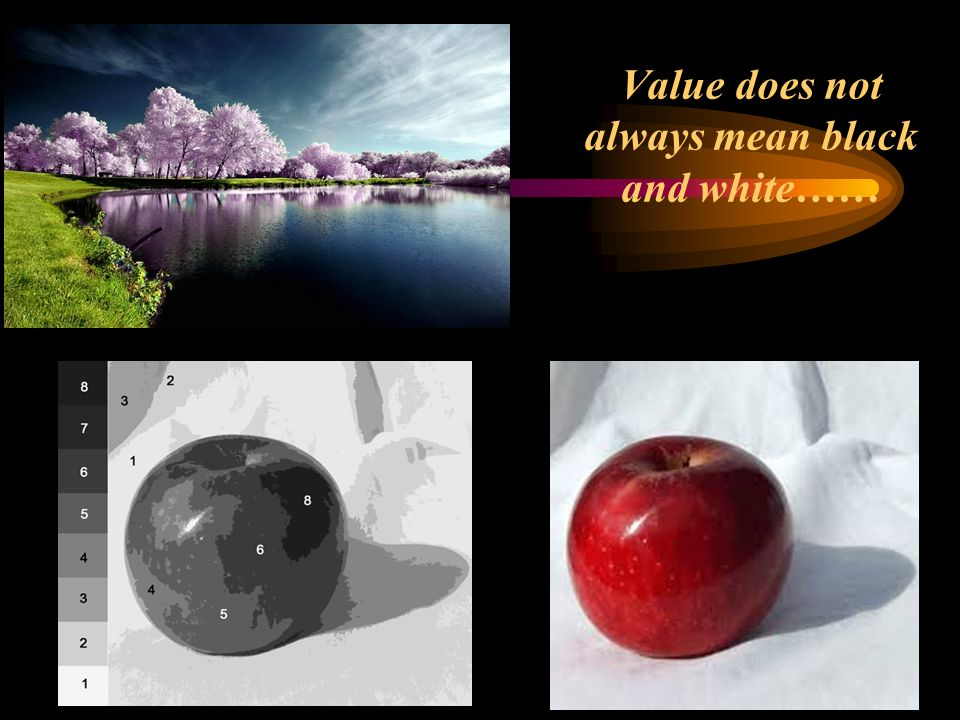 Value does not always mean black and white……