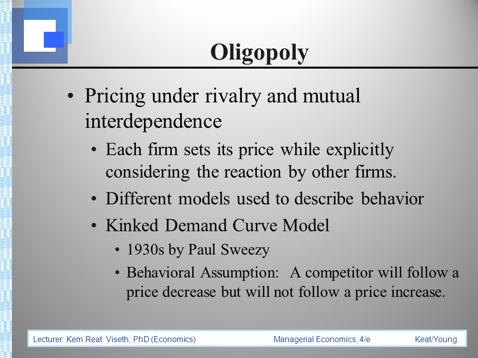 in which market model is there mutual interdependence