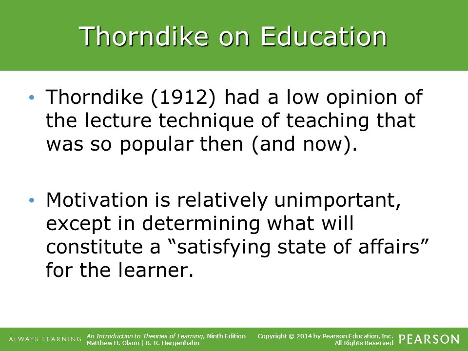thorndike education