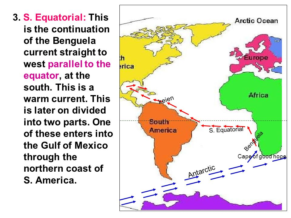 S. Equatorial  This is the continuation of the Benguela current straight to  west parallel to the equator 110c39763d05