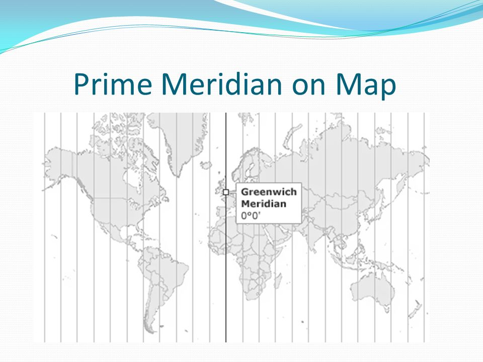 Prime Meridian on Map