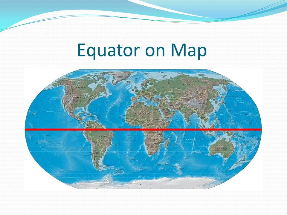 Equator on Map