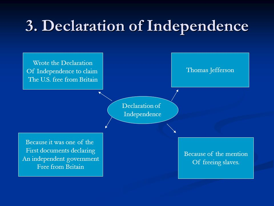 3. Declaration of Independence