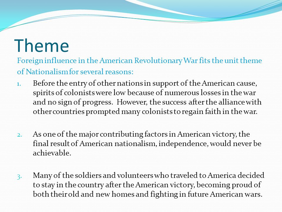 the american revolution was influenced by