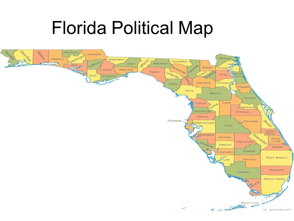 Political Map Of Florida.This Is My Florida State Notebook Ppt Video Online Download