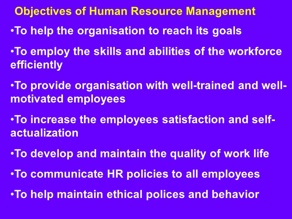 an introduction to the human resources and its functions Human resource (hr) management is that aspect of management, which deals with the planning, organising, directing and controlling the personnel functions of the enterprise.