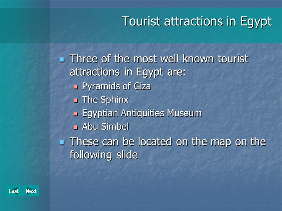 Tourist Attractions Egypt Ppt Download