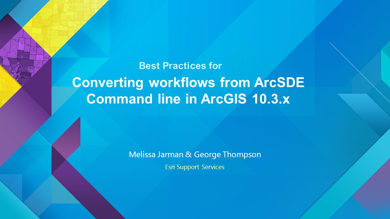 Converting workflows from ArcSDE Command line in ArcGIS 10 3
