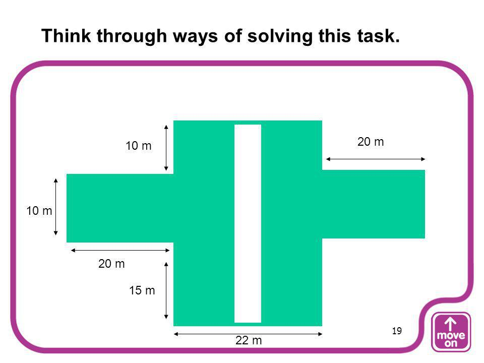 Think through ways of solving this task.