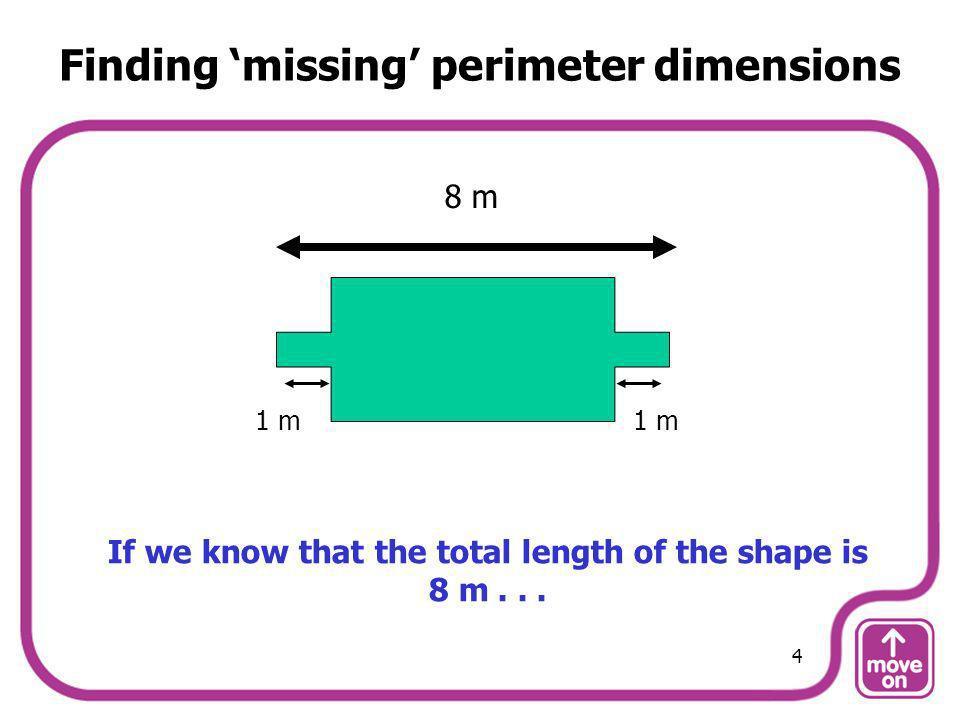 Finding 'missing' perimeter dimensions