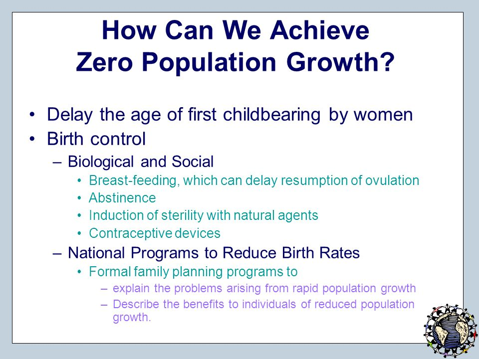 zero population growth is achieved when