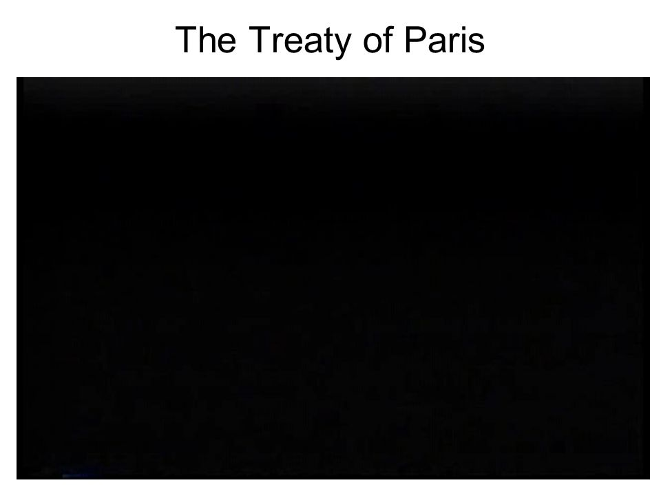 The Treaty of Paris Chapter 5, Section 1