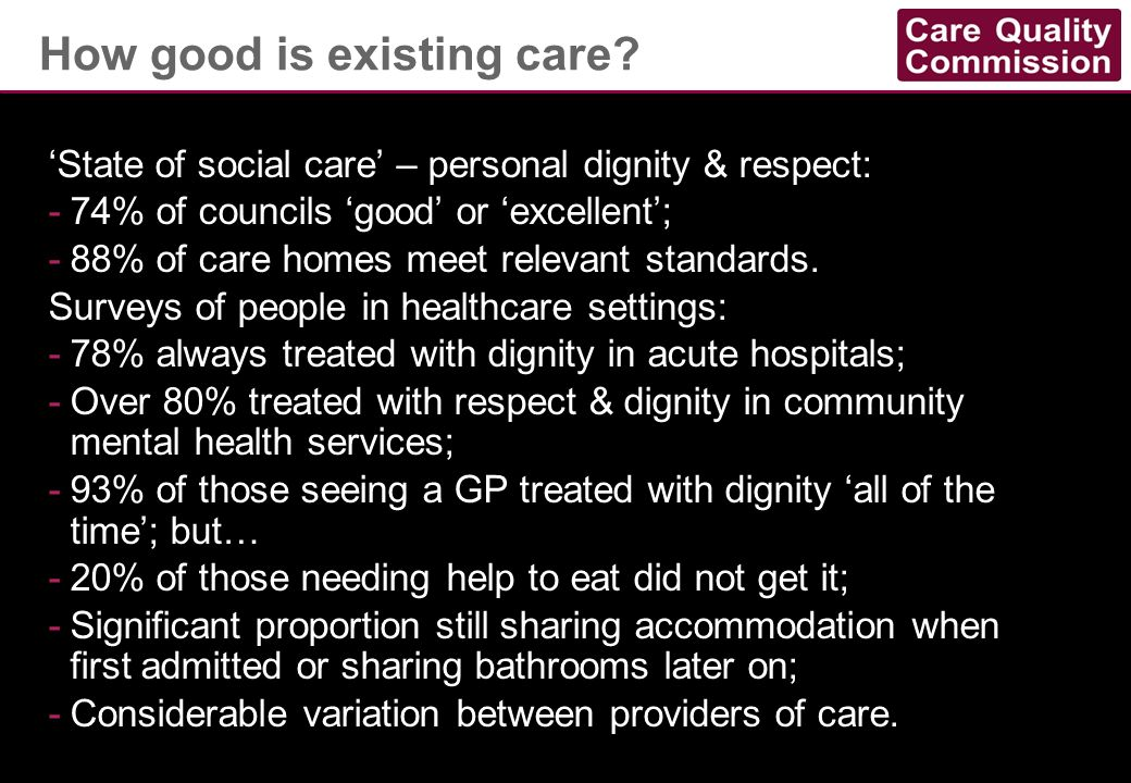 How good is existing care