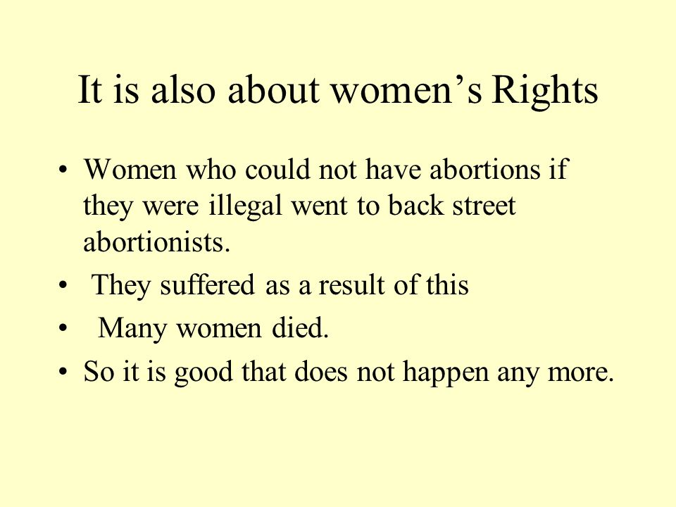 It is also about women's Rights