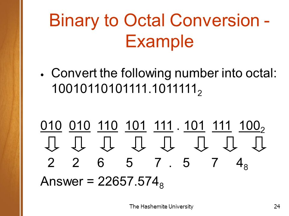 Convert binary to octal online dating
