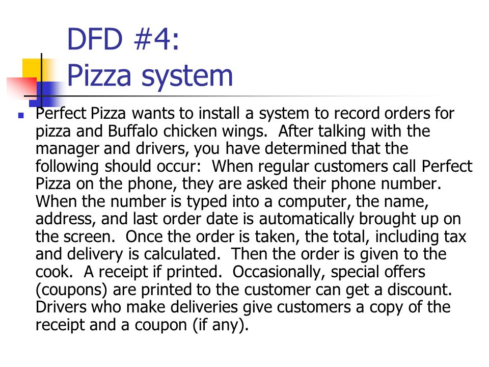 DFD #4: Pizza system