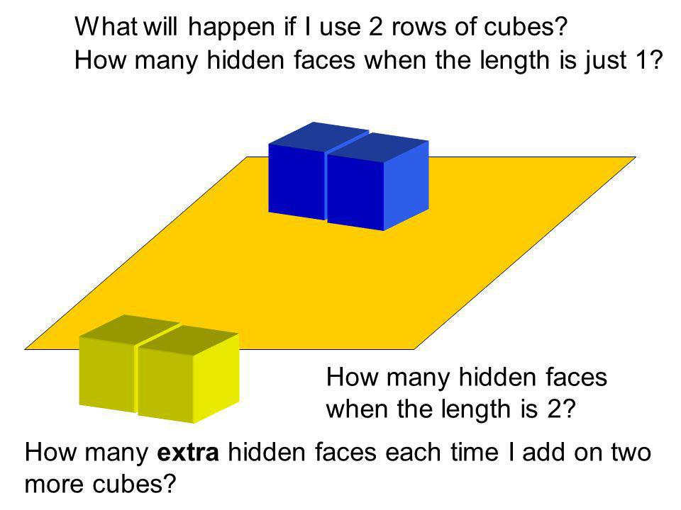What will happen if I use 2 rows of cubes