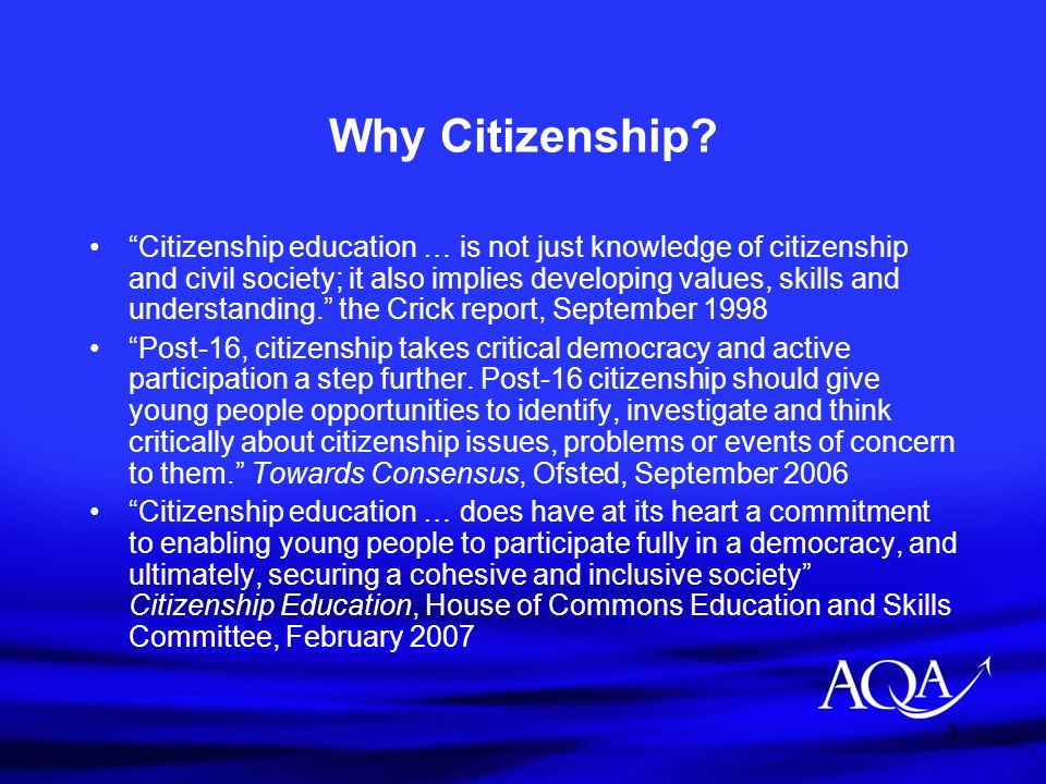 Why Citizenship