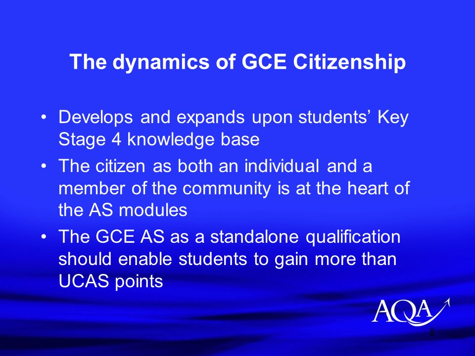 The dynamics of GCE Citizenship