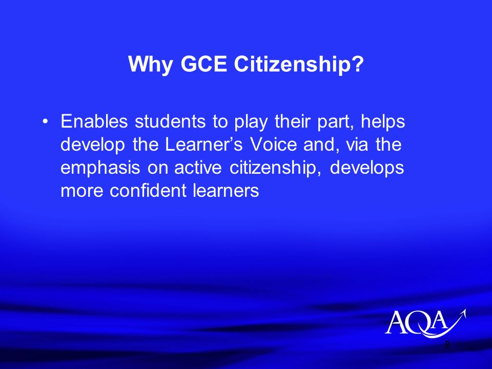 Why GCE Citizenship