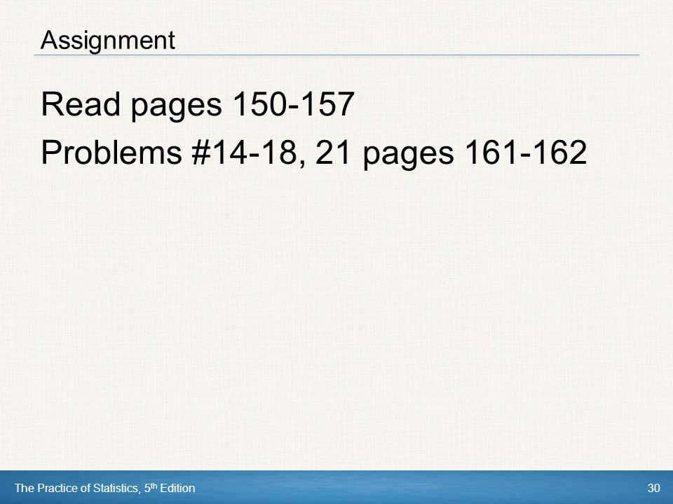 Read pages Problems #14-18, 21 pages