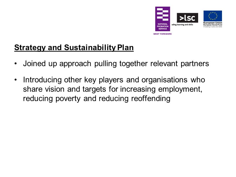 Strategy and Sustainability Plan