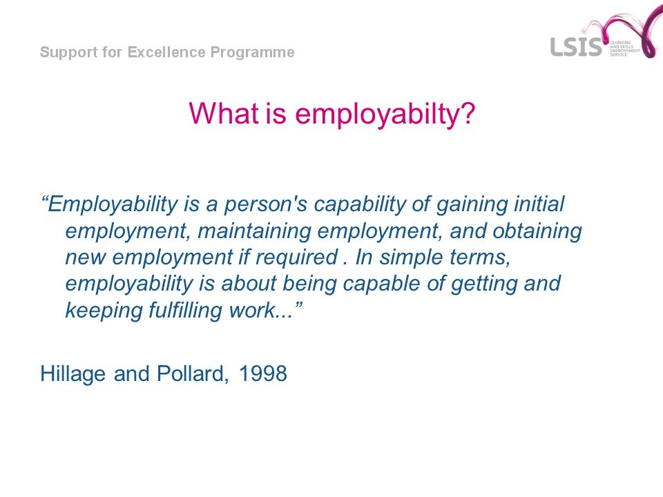 What is employabilty