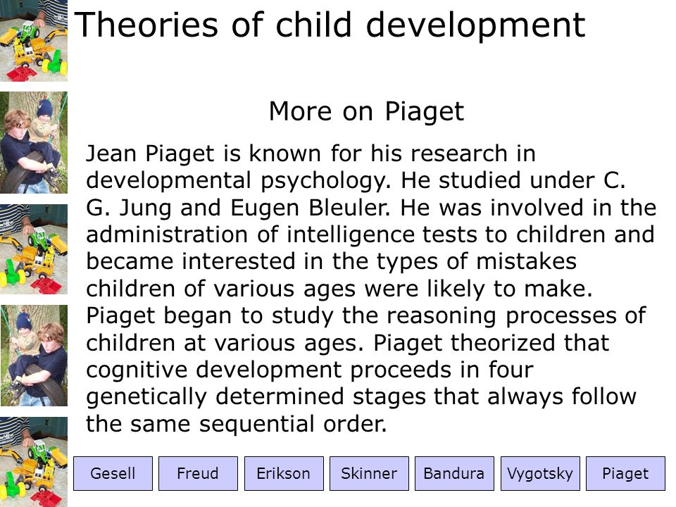 More on Piaget