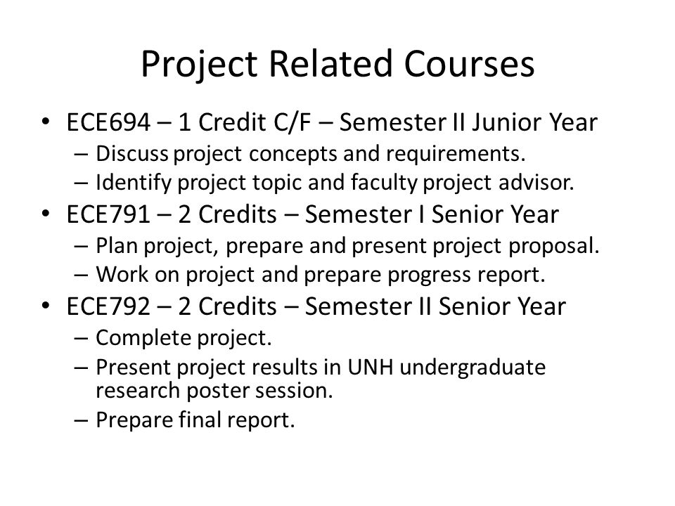 Senior Design Experience Semester Ii Project Requirements And